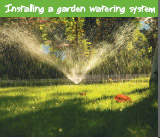 Install a garden watering system