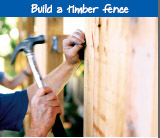 Build a timber fence